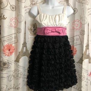 Ruby Rox Girls 3D Roses Fancy Dress